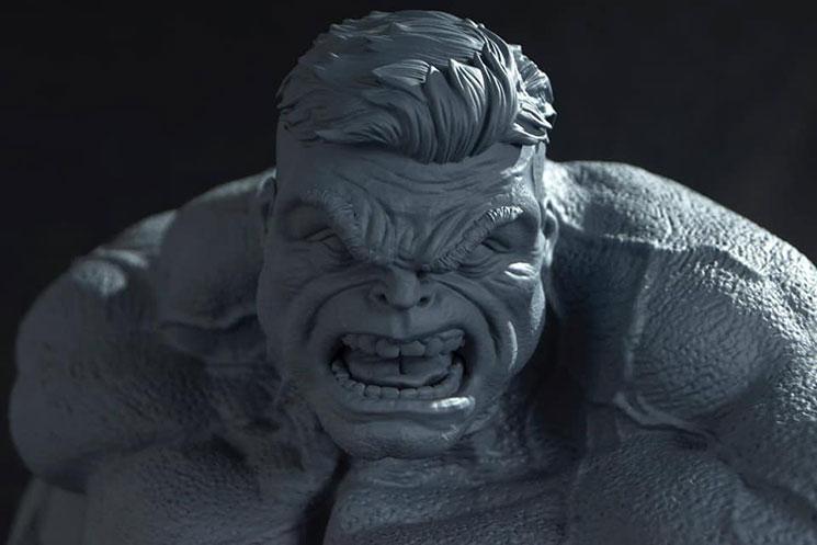 为3D打印准备复仇者雕刻