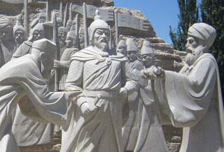 新疆若羌丝绸之路组雕