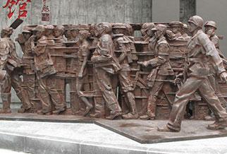 广州武警学院雕塑