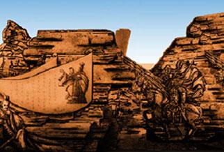 楼兰之梦,历史人物雕塑长廊