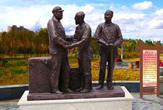 园林广场人物雕塑《周长银》