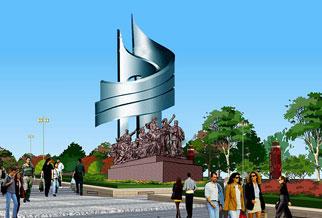 园林广场雕塑《流金岁月》