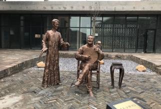 长沙田汉公园系列铸铜雕塑)