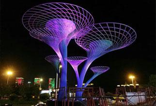 广州增城合汇广场,不锈钢锻造